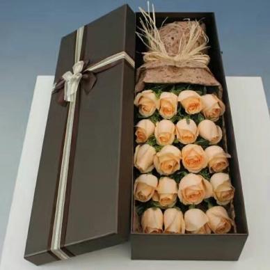 【一见如初】19朵香槟玫瑰-礼盒