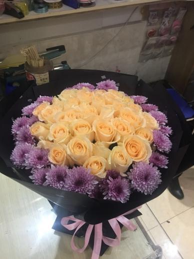 【爱如茉莉】33朵玫瑰花束